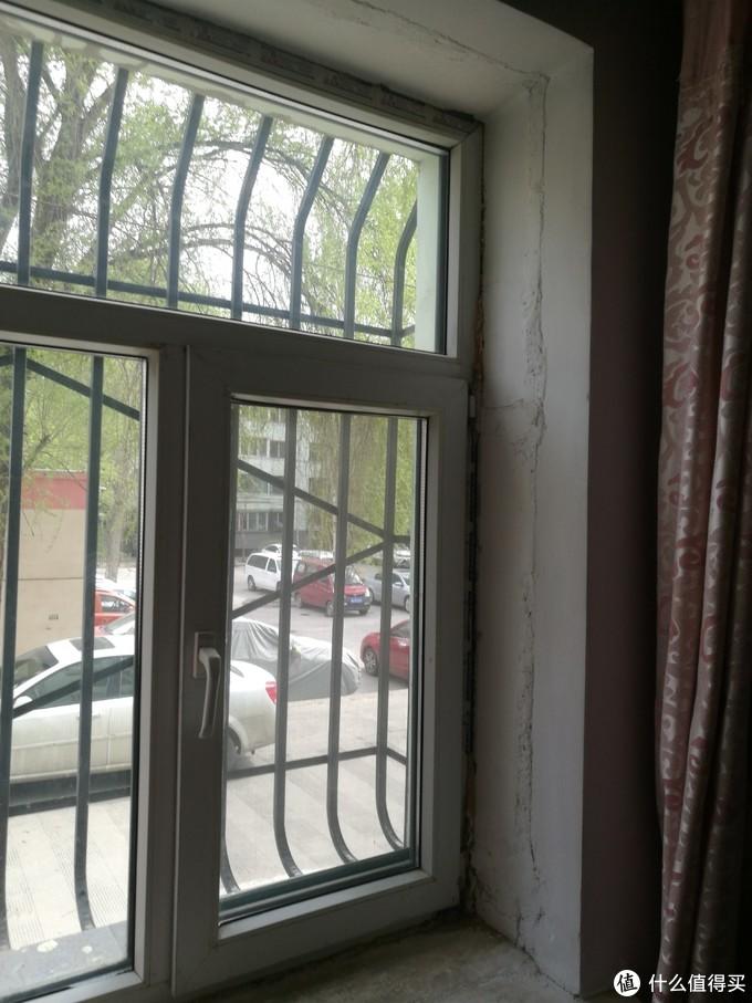 老窗户的痕迹