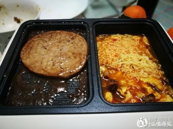 牛排煎制+煮泡面