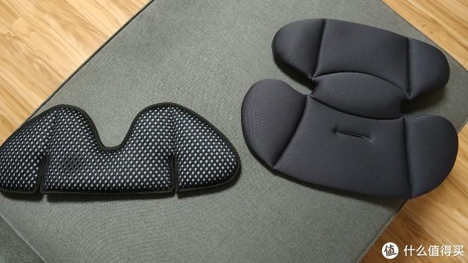 婴儿坐垫对比左边B家右边C家