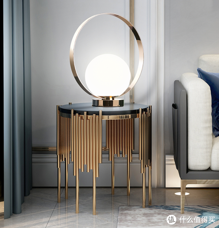 镂空金属圈、可触控调节:OPPLE 欧普照明 上新一款 Stella系列 轻奢北欧床头灯