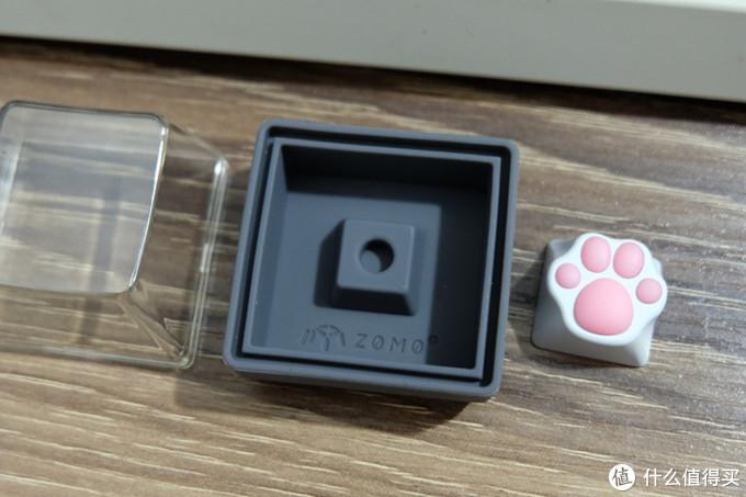 萌萌少女心:ZOMO 白粉硅胶金属猫爪键帽 体验报告