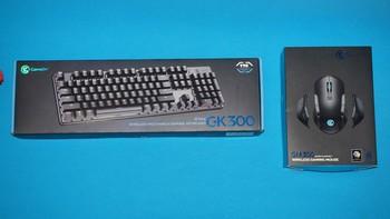 盖世小鸡 GM300GK300无线游戏键鼠套外观展示(材质 电源线 侧裙 左键 滚轮)