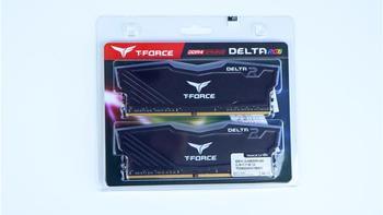 十铨 DELTA RGB系列 DDR4 3000 台式机内存包装展示(包装|内存|灯效|硬件)