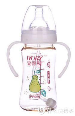 ▲不推荐款:爱得利PPSU带柄自动宽口径奶瓶