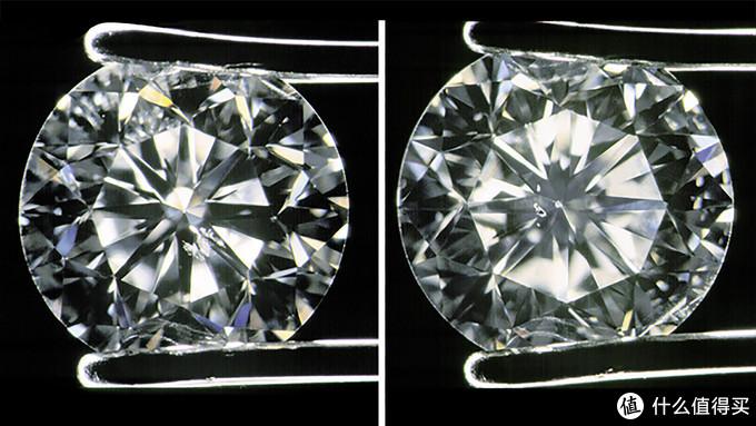 (钻石内部的放大 图片来源于GIA)