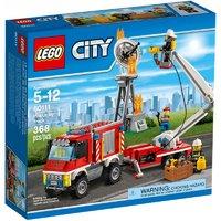 乐高 City 城市系列 60111 重型消防车外观展示(卡车 轮胎 底盘 履带轮 齿轮)