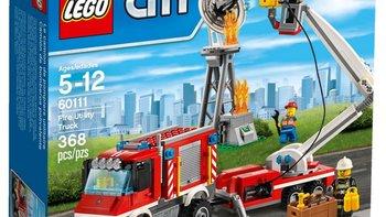 乐高 City 城市系列 60111 重型消防车外观展示(卡车|轮胎|底盘|履带轮|齿轮)