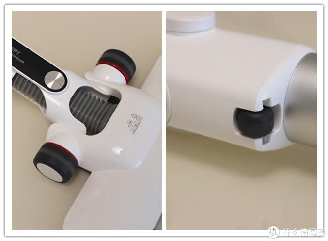 软胶轮体设计增强了刷头的灵活度与便利性