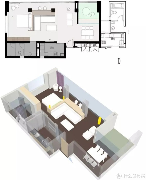 小户型有8种变化,全靠室内平面布局图!