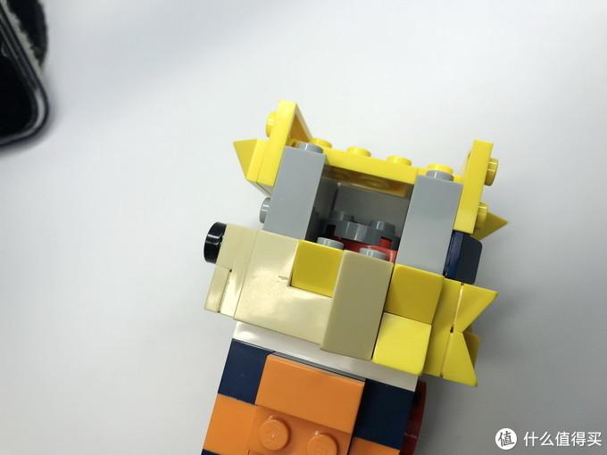乐高还能这么拼:火影忍者 漩涡鸣人 方头仔 MOC-17417