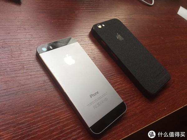 与 iPhone 5S(深空灰)对比