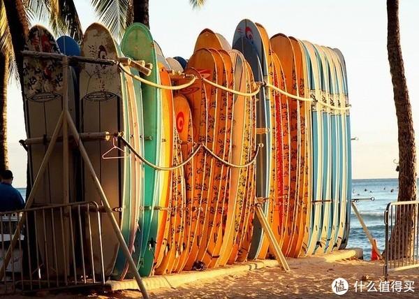 夏威夷的第一站我选威基基海滩,一边倒时差,一边体会夏威夷风情
