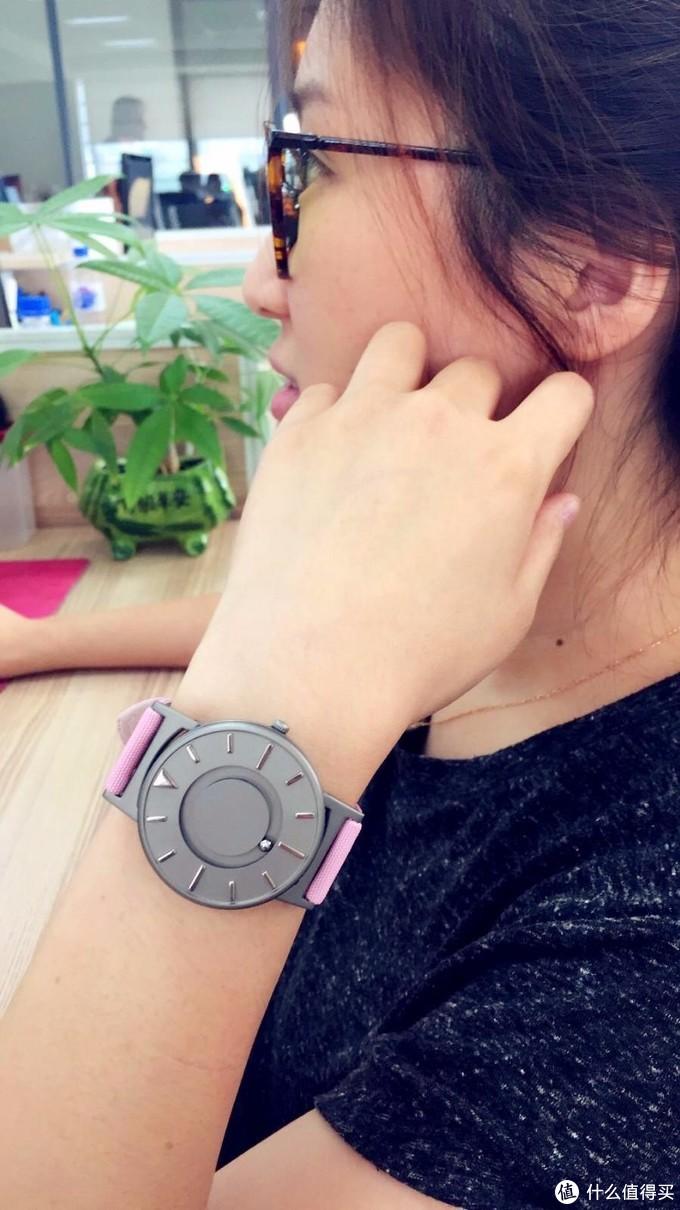 EONE手表触觉磁力钢珠表盲人概念手表,佩戴感受