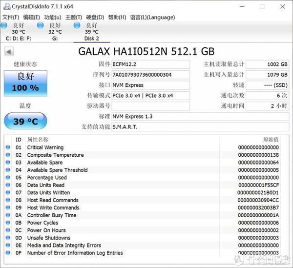 影驰HOF M.2 512GB上手