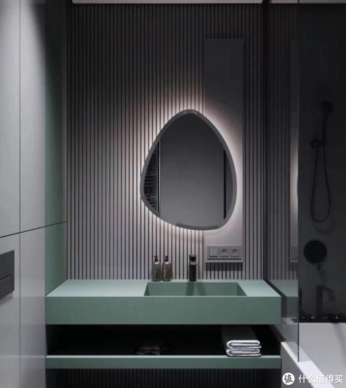 干湿分离的卫生间,洗手台墙面贴瓷砖还是刷漆好?