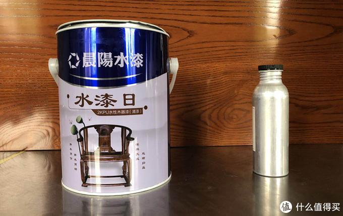 双组份水性木器漆,主剂与固化剂