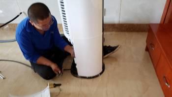 海尔先行者3匹变频立式空调柜机安装总结(铜管 室外机 进风口)