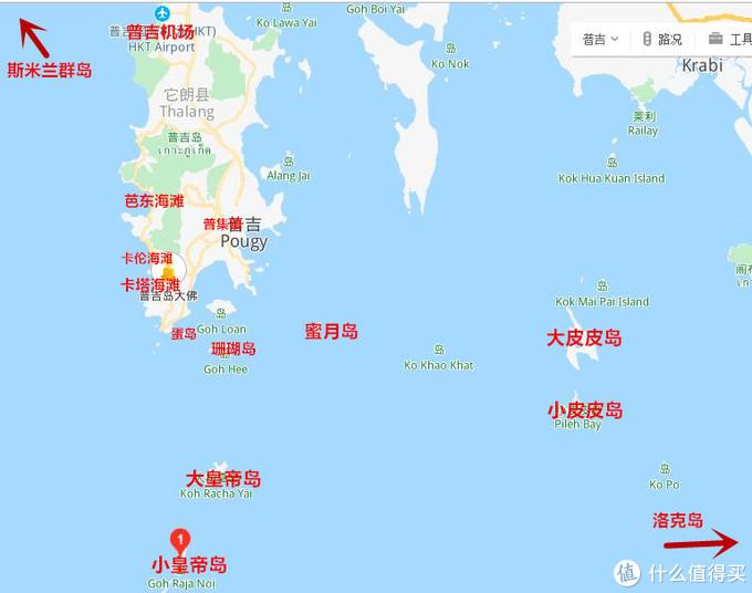 普吉岛地区地图