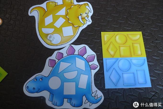 一菜两吃!认知色彩&形状,Orchard Toys 桌面游戏 斑点恐龙