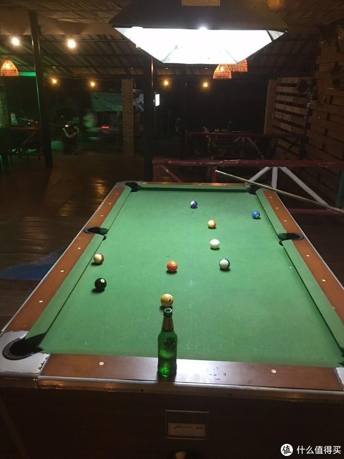 桌球和啤酒