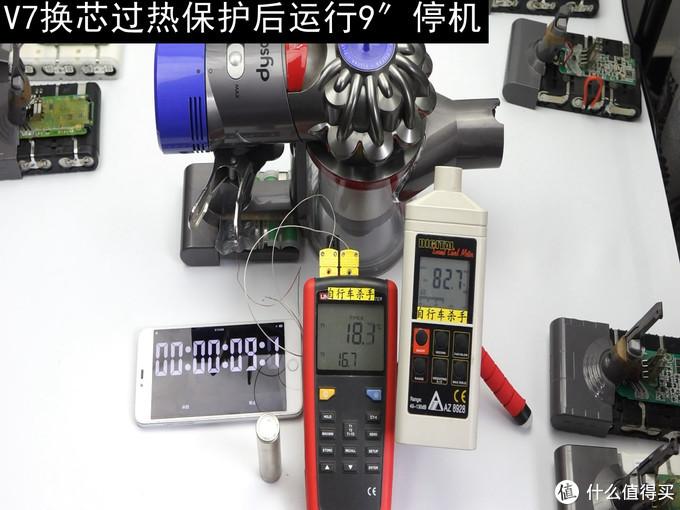 关于Dyson 戴森V7吸尘器的一些电池续航测试