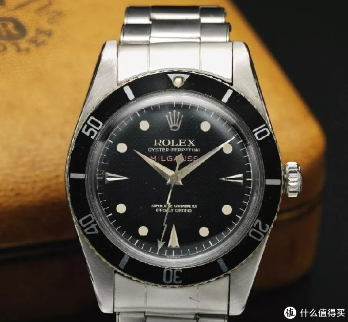 Milgauss Ref.6541,产于1958年,潜水表圈,蜂窝面,闪电针,苏富比2012年11月13日日内瓦拍卖,成交价含佣134,500瑞郎