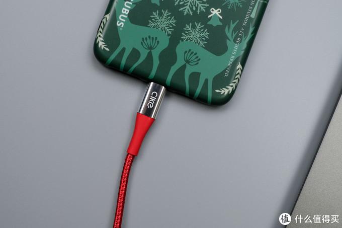 竟然是拉车线:Cike小红线 USB-C to Lightning(C2L)MFi认证 数据线