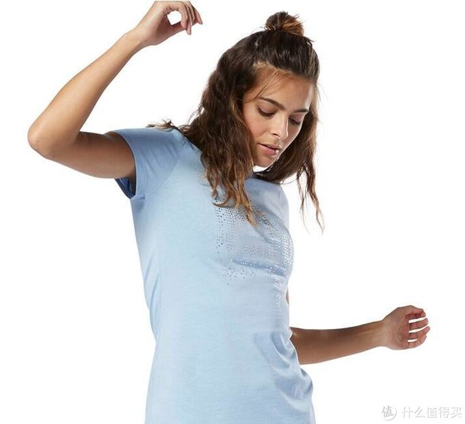 Reebok GS Motion Dot Crew女子短袖图案T恤