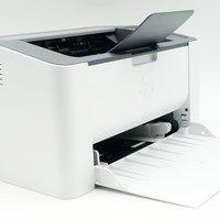 惠普Laser 108w打印机开箱展示(机身|面板|按钮|指示灯|托盘)