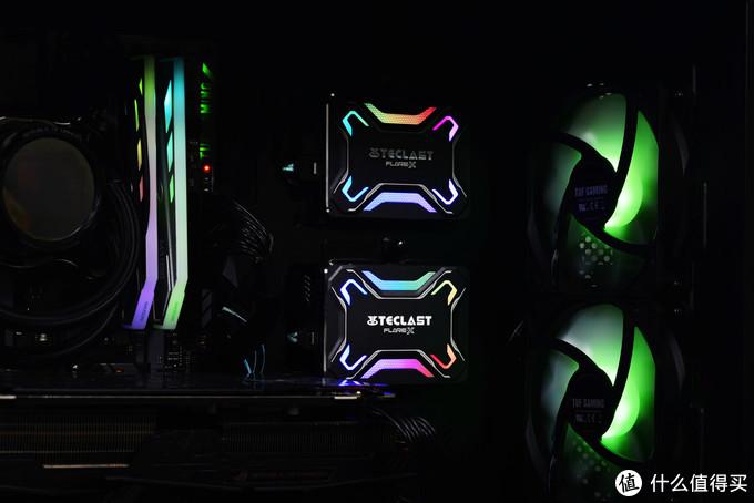 划破寂静黑夜的炫酷灯效,台电锋芒F600 SSD玩转RGB