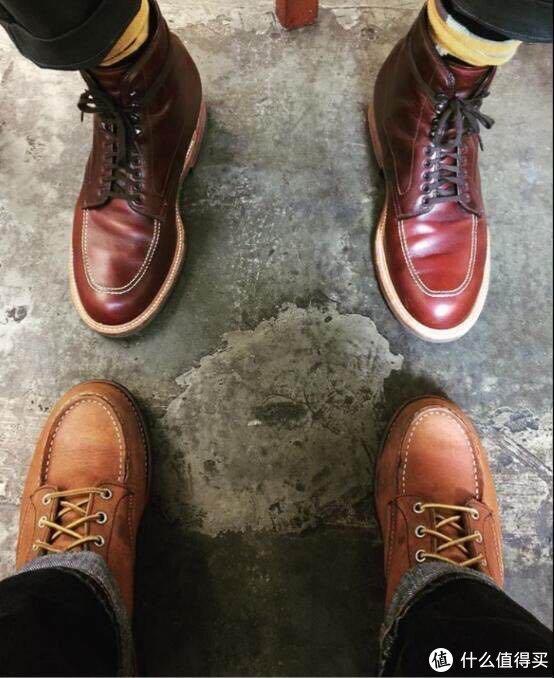 "终于等到你,值得买首晒""靴皇""Alden Tanker Cordovan 8号色,对比Red Wing1907"