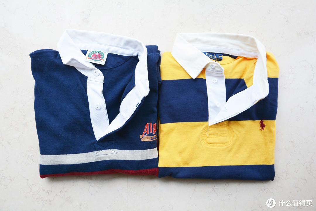 3件 Rugby 针织衫:UNIQLO X Engineered Garments、BARBARIAN、POLO RALPH LAUREN