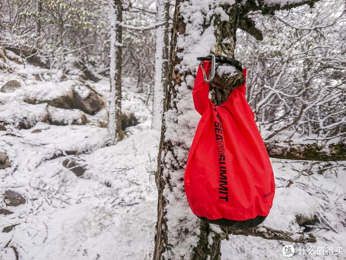 红色在雪地里极为明显