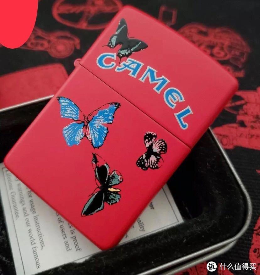 zippo 1999年 CAMEL 骆驼 红蝴蝶 打火机 极品收藏系列