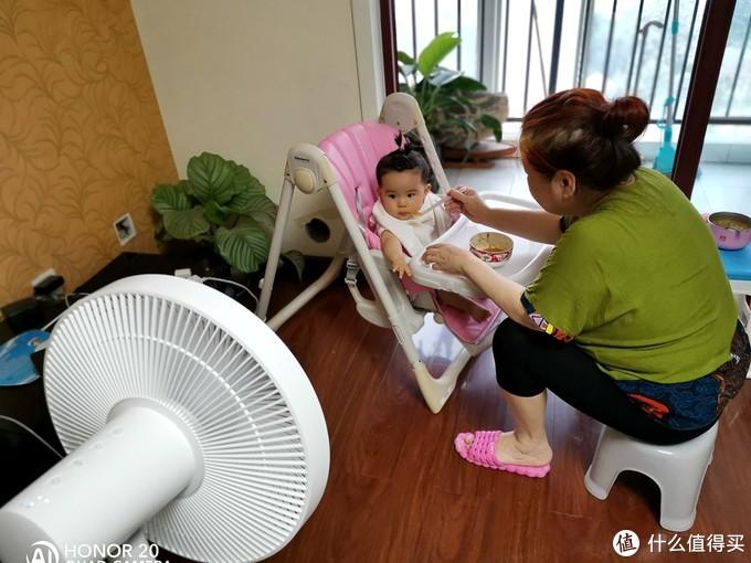 小小生活家的避暑新装备:米家直流变频落地扇1X