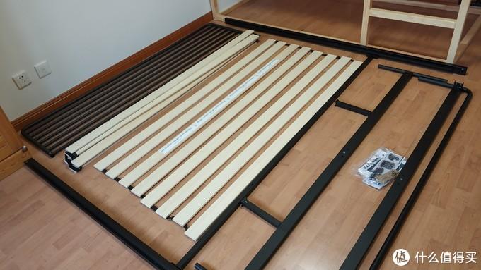 这次减肥的原因是我把床睡塌了 际诺思铁艺床和天然乳胶椰棕弹簧床垫