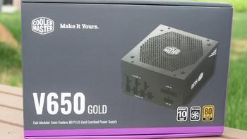 酷冷至尊 V650GOLD 游戏电源开箱展示(外壳|风扇|接口|按键|线材)