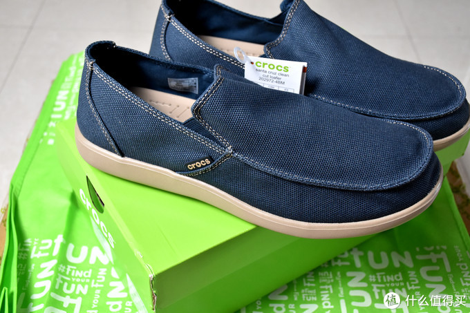 一双正经的凉鞋-Crocs 卡骆驰 圣克鲁兹休闲鞋低帮男帆布凉鞋 202972 开箱简评