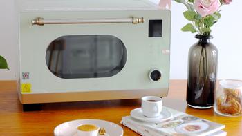 法格 复古蒸烤箱外观展示(散热孔|蒸汽口|烤箱门|把手|按钮)