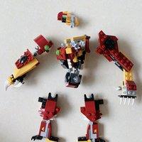 乐高 创意百变组系列 31073 神秘怪兽拼装展示(手臂|双脚|头)