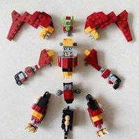 乐高 创意百变组系列 31073 神秘怪兽拼装展示(头部|腰部|双脚|翅膀)