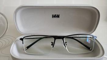 汉代 HD4814 钛塑眼镜架外观展示(镜片|蓝光灯)