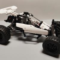 米兔 小米积木 沙漠赛车外观展示(重量 齿轮 尾翼 驱动)