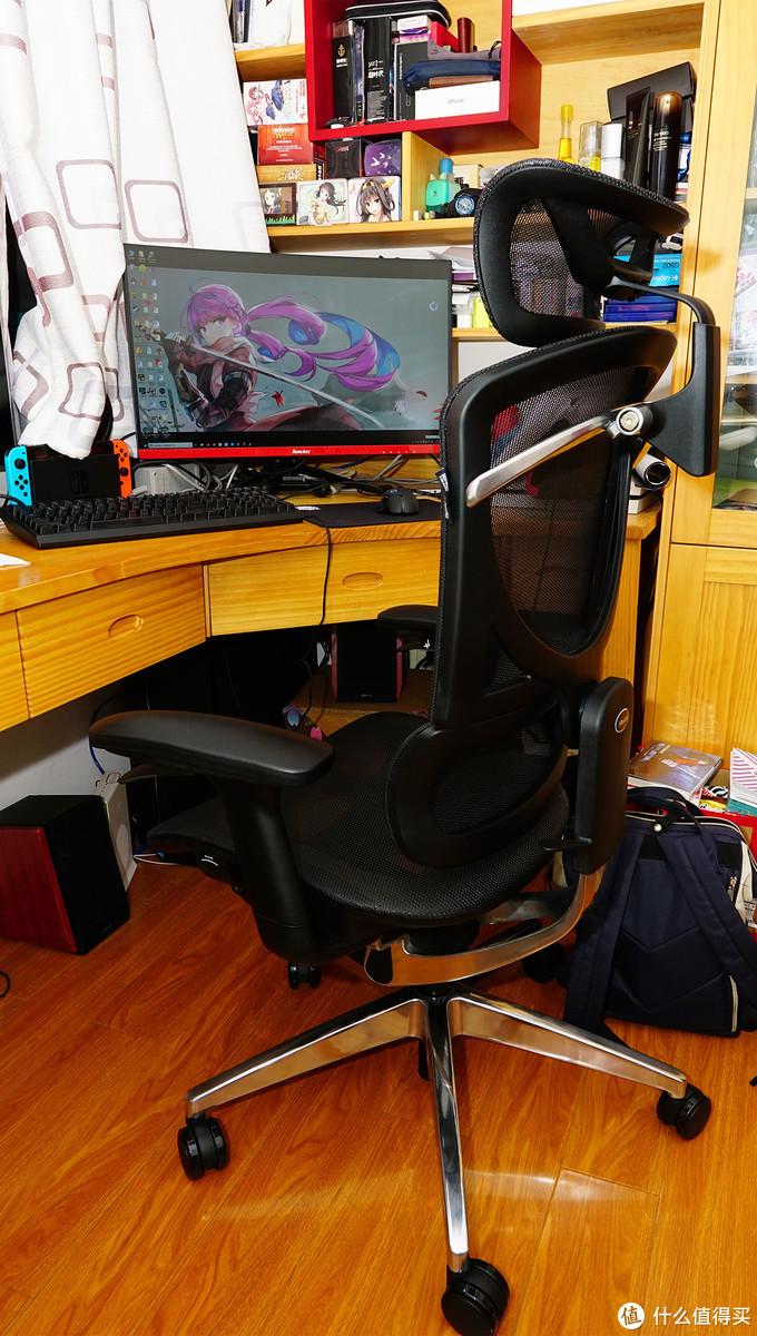 最容易安装的电脑椅:黑白调Hbada人体工学电脑椅
