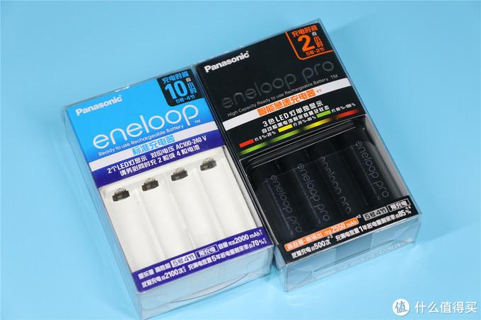 与标准充电套装比较一下,注意各自右上角的标称充电时间