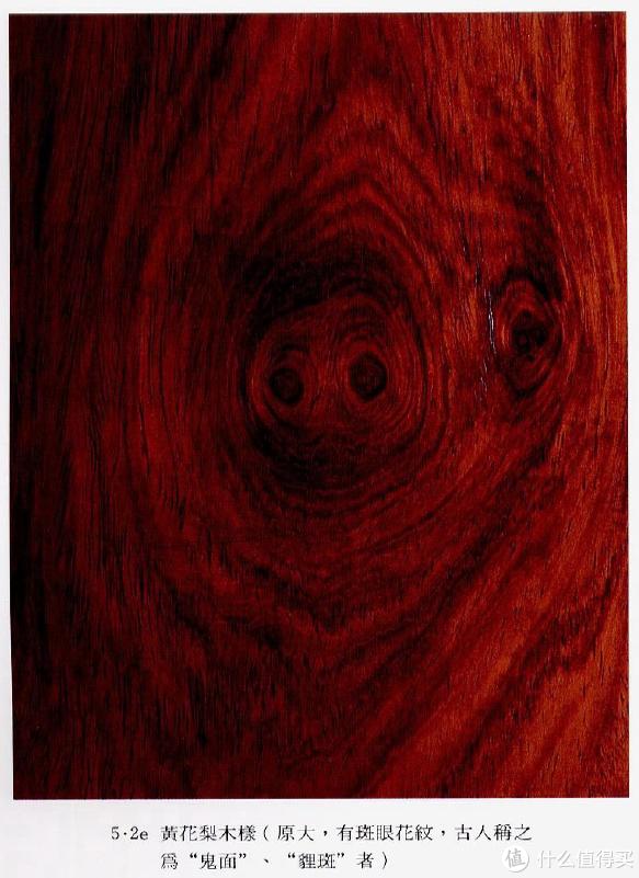 """黄花梨的""""鬼面""""是天然之美的高度表达,其实它就是木头的结疤。图片出自王世襄《明式家具研究》"""