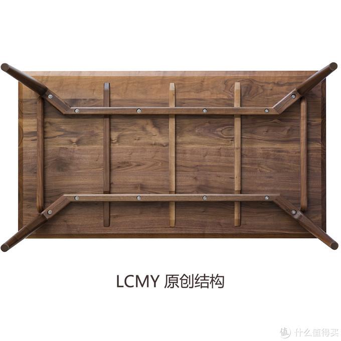 览春木业北岛餐桌,改进型的可拆卸桌腿结构