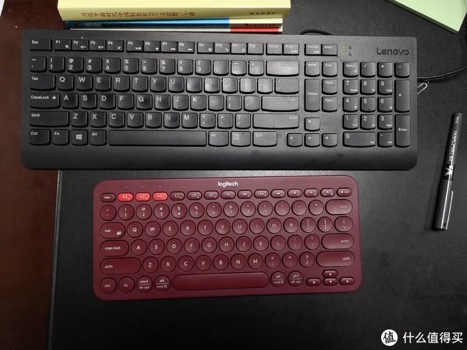 凌乱办公桌上那一抹Sao红,618购入罗技K380开箱体验