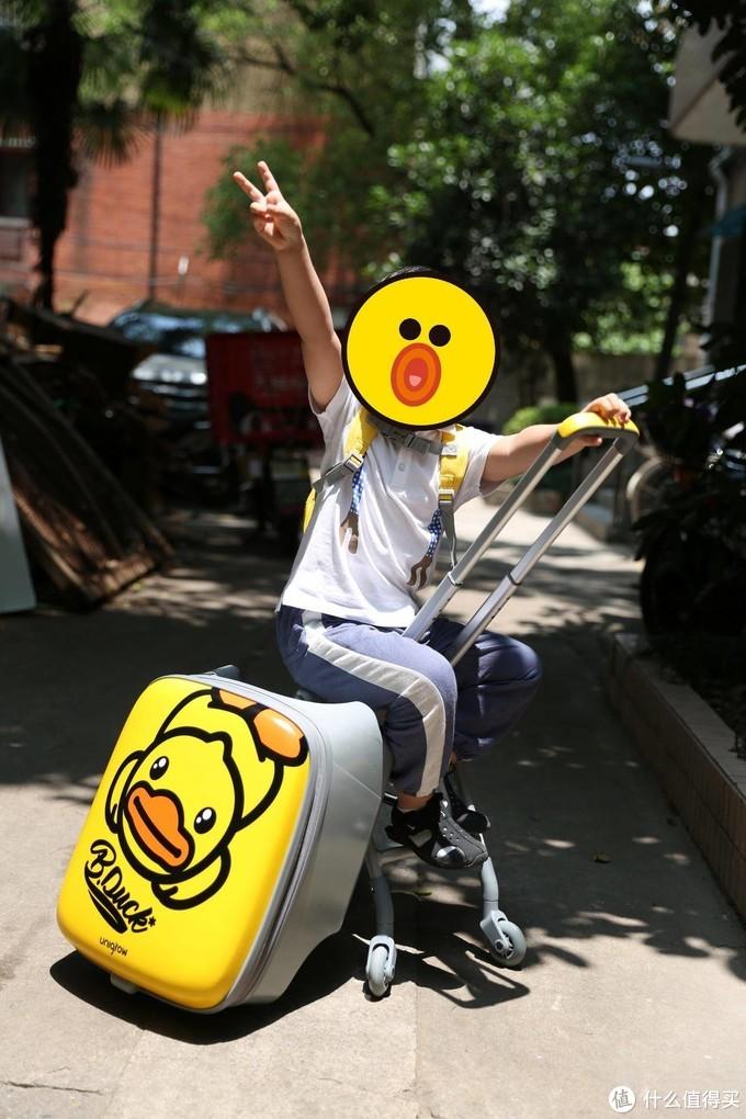 能当推车的儿童行李箱-稚行B.Duck联名款趣玩遛娃箱