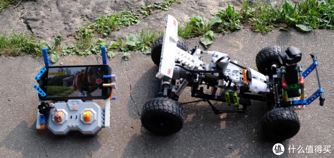 「小米+大疆」米兔积木沙漠赛车 改 实时摄像遥控越野车